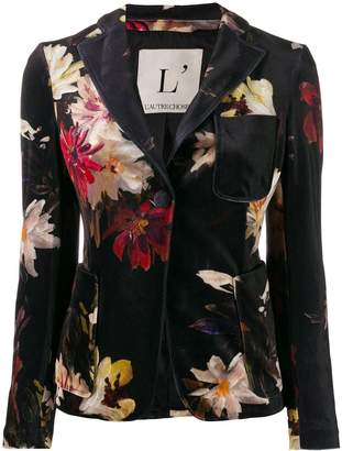 L'Autre Chose single breasted floral pattern blazer