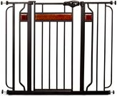 Regalo Home Accents Extra-Tall Walk-Through Gate in Black