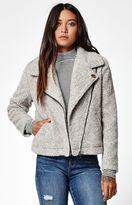 Obey Arctic Sherpa Fleece Moto Jacket