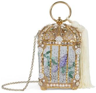 Judith Leiber Crystal-Embellished Birdcage Clutch Bag