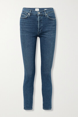CITIZENS OF HUMANITY - + Net Sustain Olivia High-rise Slim-leg Jeans - Blue