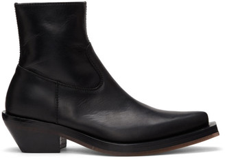 Ion Black Pointed Boots