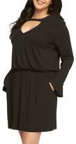 Tart Plus Size Women's Arianna Keyhole Blouson Dress