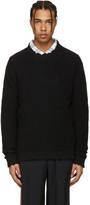 MSGM Black Destroyed Sweater