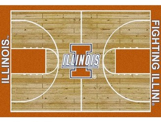 "My Team by Milliken NCAA College Home Court Illinois 3'10"" x 5'4"" Novelty Rug"