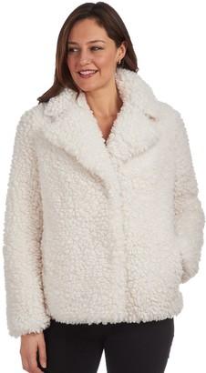Fleet Street Women's Faux Fur Reversible Short Coat
