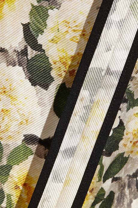 ADAM by Adam Lippes Floral-print silk track pants