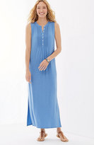 J. Jill Pintucked Knit Maxi Dress