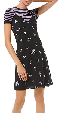 MICHAEL Michael Kors Floral Embroidered Slip Dress