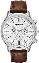 Arizona Mens Brown Strap Watch-Fmdarz532