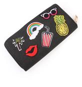 Riah Fashion Fashion Patch Zipper Wallet