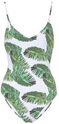 Melissa Odabash Bora Bora palm-printed swimsuit