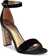 Marc Fisher Factor Block-Heel Dress Sandals