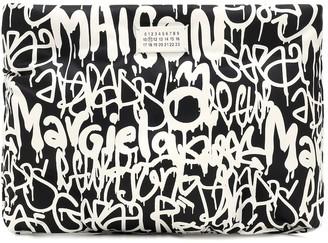 Maison Margiela Graffiti Glam Slam printed leather clutch