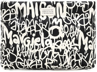 Maison Margiela Printed leather clutch