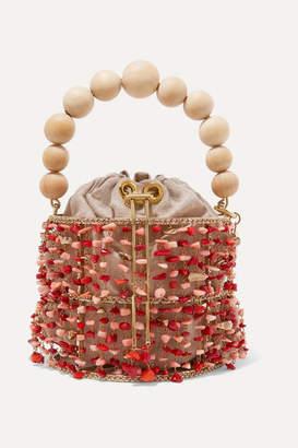 Rosantica Antares Embellished Bucket Bag - Orange