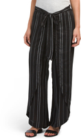 Juniors Tie Waist Striped Pants