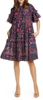 Ulla Johnson Fawn Tiered Floral Dress