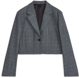 Arket Cropped Wool Blend Blazer