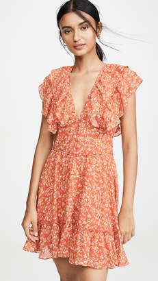 Divine Heritage Short Sleeve Ruffle Dress