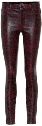 J Brand L8001 mid-rise leather leggings