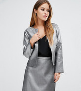 Asos Metallic Quilt Jacket