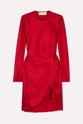 Mason by Michelle Mason Twisted Silk-satin Mini Dress - Red