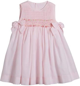 Luli & Me Sleeveless Smocked Bow Dress, Size 4-6X