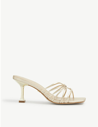 Carvela Greet leather flute heel sandals