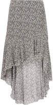 IRO Asymmetric Floral-print Georgette Skirt