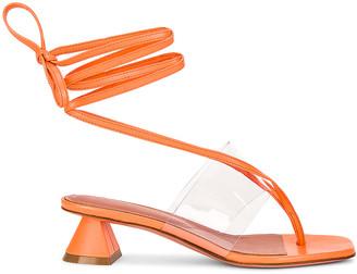 Amina Muaddi Zula 40 Sandal in Coral | FWRD