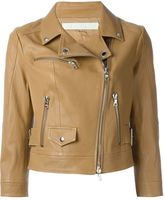 Drome cropped biker jacket - women - Lamb Skin/Acetate/Cupro - L