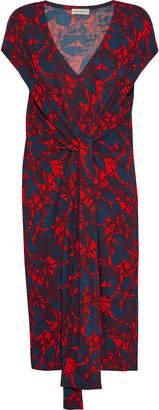 By Malene Birger Quinnas Tie-front Printed Jersey Dress