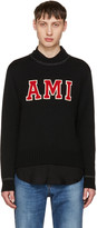 Ami Alexandre Mattiussi Black Logo Sweater
