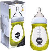Joovy Boob Baby Bottle Glass - 8oz/240ml with Green Sleeve