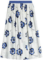 Agnona Printed Cotton Midi Skirt