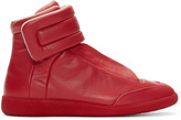Maison Margiela Red Leather Future High-Top Sneakers