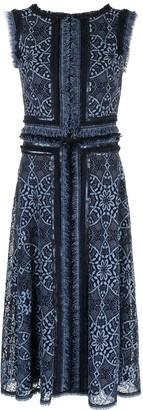 Tadashi Shoji Kubra lace fringe-trimmed dress