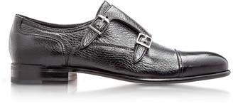 Moreschi Eze Black Deerskin Monk Shoes