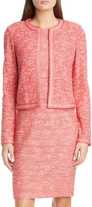 St. John Marled Space Dye Tweed Knit Jacket