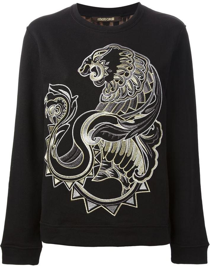 Roberto Cavalli embroidered sweatshirt