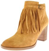 Naturalizer Womens Fortunate Suede Fringe Ankle Boots Tan 7.5 Medium (B,M)