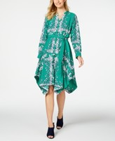 Charter Club Long-Sleeve Handkerchief Dress, Created for Macy's