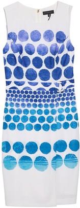 DKNY Belted Printed Sleeveless Dress