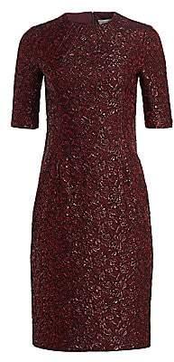 Teri Jon by Rickie Freeman Women's Metallic Jacquard Cocktail Dress