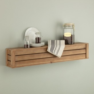 Nielsen Bainbridge Rustic Wood Crate Floating Wall Mount Shelf Storage