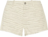 IRO Corlia Embroidered Cotton-Blend Twill Shorts