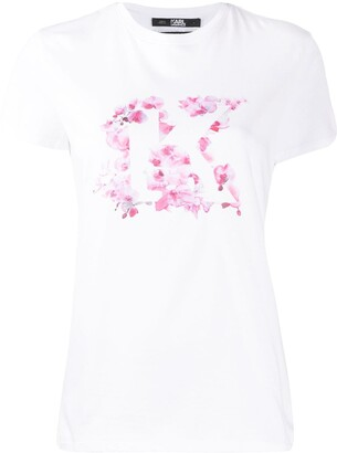 Karl Lagerfeld Paris Orchid K crew neck T-Shirt
