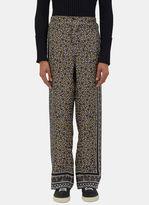 Fendi Men's Geometric Printed Pyjama Pants In Grey