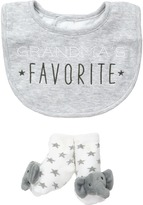 Mud Pie Gray Grandma Favorite Bib and Sock Set Boys Shoes